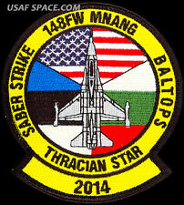 USAF 148th FIGHTER WING - THRACIAN STAR 2014 - ORIGINAL Air Combat Command PATCH
