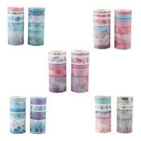10 Rolls/Set Washi Tape DIY Decorative Scrapbooking Paper Adhesive Sticker Craft