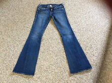 Sexy TRUE RELIGION Bootcut Jeans Thick Stitch JOEY Twisted Flare Women's Size 27