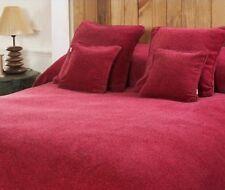 Maspar Melange Chenille Full/Queen Bed Coverlet in Passion
