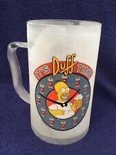 The Simpsons Plastic Freezer Beer Mug ~ Homer ~ Father's Day ~ Lots of use/wear