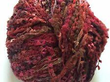 Anny Blatt Albatross #170 Deauville Pink Brown Purple Wool & Flag Sparkly Yarn
