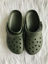 Crocs Unisex Loafers Slide On Clog Green Size Mens 8 Womens 10 New