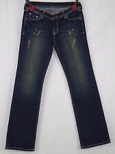 Azztro Exchange Stonewashed Indigo Distressed Jeans Size 29W X 33L