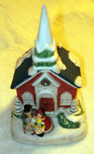 Porcelain Musical Church (Joy To The World ) Hand Painted