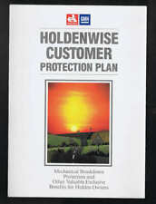 Orig c.1990's GMH Holden Holdenwise Customer Protection Plan Brochure