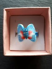 New childs blue butterfly cute ring UK size K.5! Childrens kids jewellery!