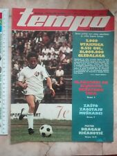 1977 TEMPO YUGOSLAVIA SPORT MAGAZINE FOOTBALL Alberto Juantorena ATHLETIC HOCKEY