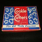 VTG Metal Cookie Cutters for All Party Occasions  Original Box