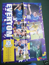 EVERTON  FOOTBALL -  TEAM PLAYERS - LARGE PULL OUT POSTER