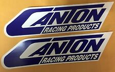 LOT OF (2) OFFICIAL CANTON RACING PRODUCTS NASCAR NHRA RACING DECALS STICKERS