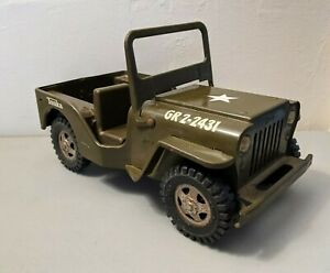 Vintage Tonka Army Jeep GR2-2431 Pressed Steel