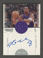 2000-01 Upper Deck Pros & Prospects Kobe Bryant GU Jersey Signed AUTO Lakers