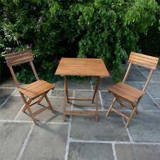 BillyOh Windsor Wooden Furniture 60cm Square Bistro Set 2 Seat Folding Chairs