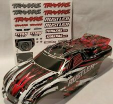Traxxas RUSTLER 1/10 body shell red Silver Black White Painted 2WD NEW
