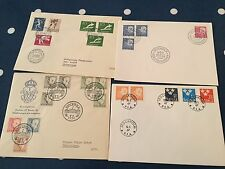 Sweden 4 FDC First Day Covers nice tidy lot incl 2 to Skarplinge