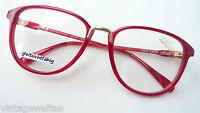 Silhouette Eyecatcher knallrot Marken-Brille Fassung Vintagegestell Grösse M