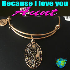 Alex and Ani Because I Love You Aunt ll Rafaelian Gold  New W/ Tag, Card& Box