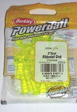 """Berkley Powerbait 2"""" Grubs (Chartreuse-20/pack)"""