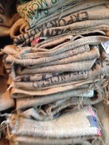 AKTION!! AKTION!! KAFFEESACK--10  Stück originale Roh-Kaffeesäcke aus aller Welt