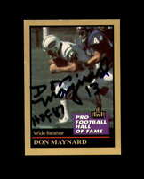 Don Maynard Signed 1991 Pro Football HoF New York Jets Autograph