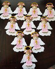 10 pcs pink ANGELS Baptism/ 1st communion foam decorations for girl