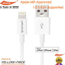Apple MFI Certified Lightning to USB Cable White (Short Length 1M / 3.3FT )