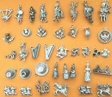 SCOTLAND, IRELAND, WALES Vintage sterling silver charms bracelet