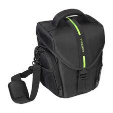 Kameratasche / Fototasche / SLR Tasche L mit Regenschutz und Zubehörfächer, grün