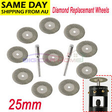 10pcs 25mm Diamond Replacemant Wheels For Tungsten Grinder Sharpener Rotary Tool