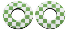 ProBMX Old School Style BMX Grip Donuts - Pairs - Green & White
