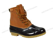 Womens Duck Boots Insulated Waterproof Hiking Lace Up Calf Snow Rain Shoes Sizes