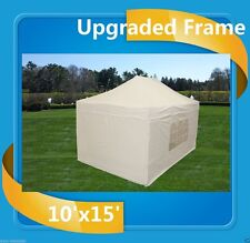 10'x15' Pop Up Canopy Party Tent EZ - White - F Model Upgraded Frame