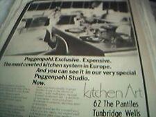 ephemera 1974 kent advert kitchen art the pantiles tunbridge wells poggenpohl