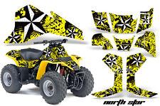 AMR Racing Suzuki QuadSport LT80 Decal Kit ATV Graphics Quad Sticker 87-06 NST Y