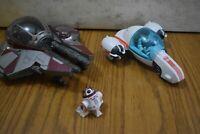 Star Wars Galactic Heroes Jedi Force Freeco Bike/Starfighter Obi Wan  & Driod