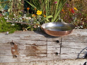 Lovely Large French Vintage Copper Lined Saute Pan Ref MP/179