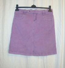 Ladies GAP Stretch casual purple corduroy skirt  sz 6 great co LOVELY