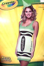 Crayola Screamin Green Costume Women Disguise Tank Dress Adult Halloween Fantasy