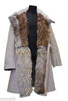 Soviet Army Original Winter Fur Coat Bekesha + GIFT Tulup Sheepskin & Fur White