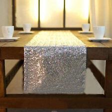 Tischdecke Rose Gold/ Gold/ Silber Pailletten Tischläufer Glitzer Hochzeit Dekor