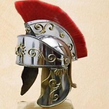 NEW PRODUCT KING ARTHUR ROMAN HELMET WITH RED PLUME SCA HALLOWEEN GIFT