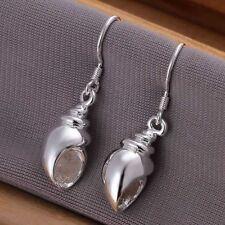 Damen Ohrhänger Muschel Ohrringe 925 Sterling Silber plattiert Ohrschmuck