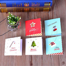 5PCS Greeting Message Cards Paper Festival Blessing Christmas Hollow Card Random