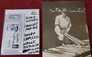 PSA/DNA Encapsulated Signed Home Run Baseball Leaders 11x14 Babe Ruth Photo Mize