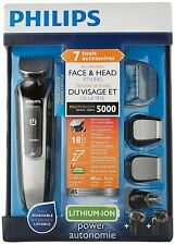 Philips QG3364/16 Multigroom Series 5000 7-in-1 Face & Head Trimmer for Men