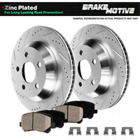 Rear Drilled Slotted Brake Rotors & Ceramic Pads For Subaru Legacy Outback WRX