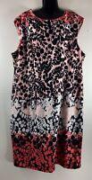 Karin Stevens Women's Size 22W Dress Pencil Peach Coral Black Knee Length