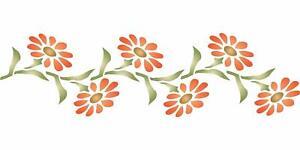 Daisy Stencil 24 x 6.5cm Reusable Flower Marguerite Gerber Border Wall Template