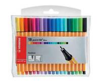 Stabilo Point 88 MINI 0.4 Fineliner Drawing Pens, Assorted wallet of 18